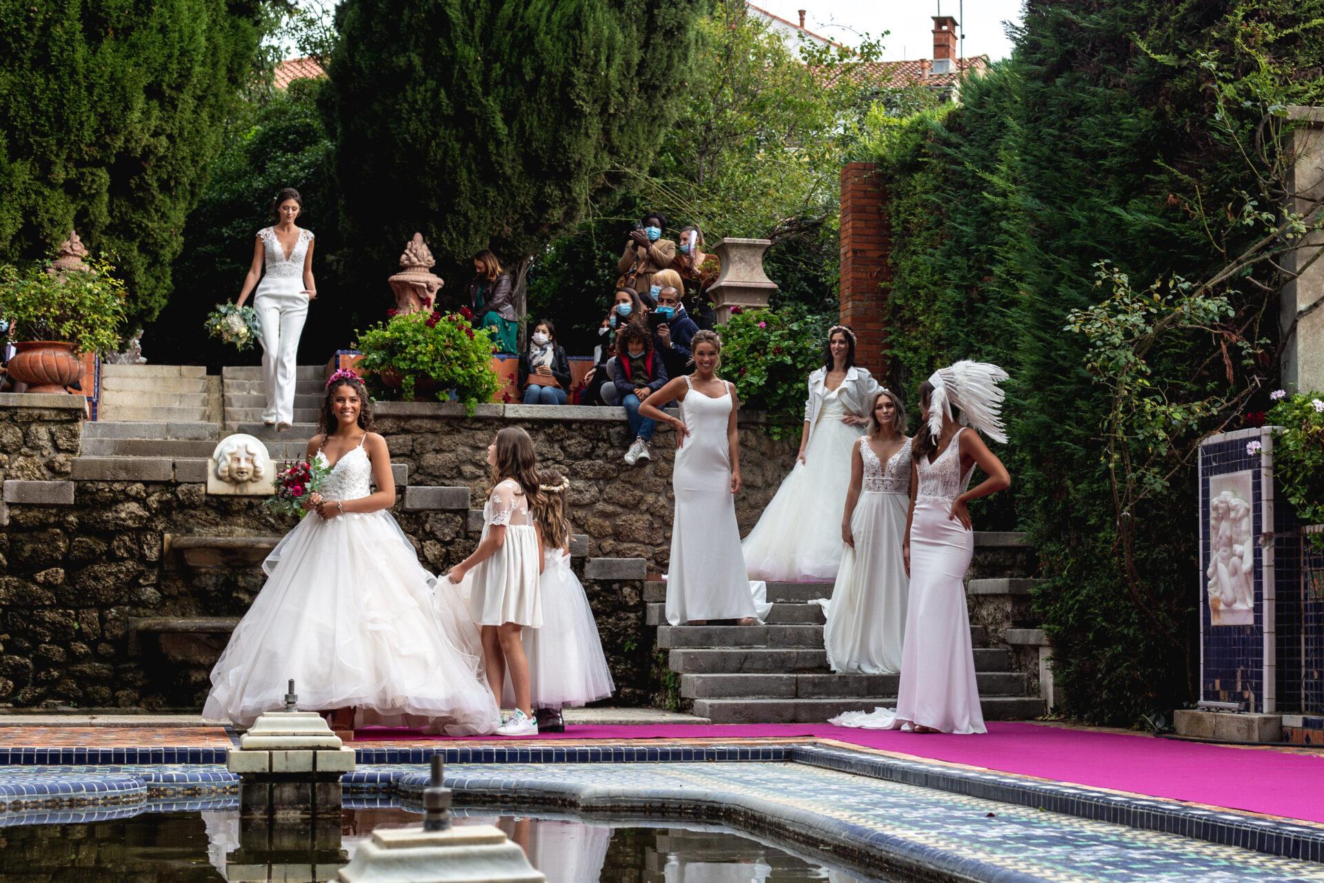 Défilé de robes de mariée ~ 5 ans Blanc Poudré